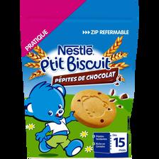 P'tit biscuit bébé pépites chcocolat dès 12 mois, NESTLE, 150g