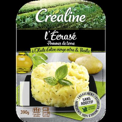 Ecrasé de pomme de terre/huile d'olive, CREALINE, barquette 2 x 195g