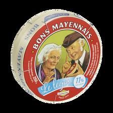 Camembert allégé au lait pasteurisé BON MAYENNAIS, 11% de MG, 250g
