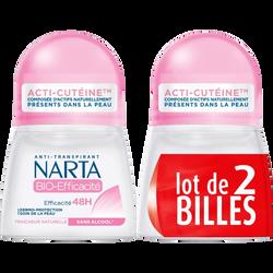 Déodorant femme bio efficacité NARTA, 2x50ml