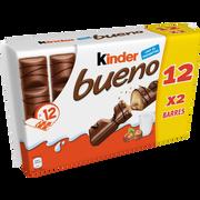 Kinder Chocolat Kinder Bueno, Pack De 12 Étuis De 2 Barres 516g