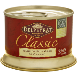 Bloc de foie gras de canard DELPEYRAT, 120g