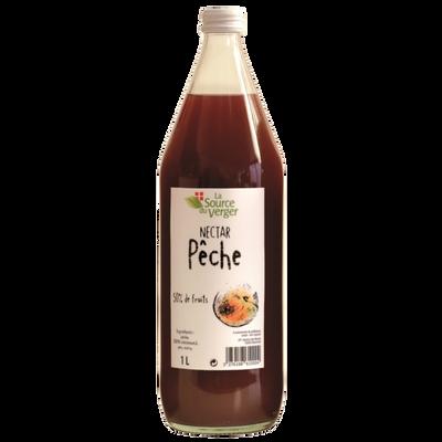 Nectar de peche sanguine LA SOURCE DU VERGE, bouteille 1l