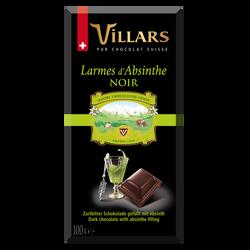 """Chocolat noir à la liqueur """"Larmes d'Absinthe"""" VILLARS, 100g"""