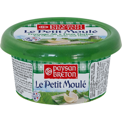 Petit moule lait cru 25% de MG ail & fines herbes PAYSAN BRETON, 150g