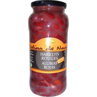 Haricots rouges JARDIN DE NAVARRES, bocal en verre de 400g
