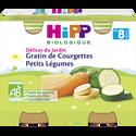 HiPP Petit Pot Bio Pour Bébé Gratin De Courgettes Et Petits Légumes , Dès 8 Mois, 2x190g