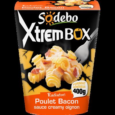 Radiatori au poulet bacon sauce creamy oignons SODEBO, 400g