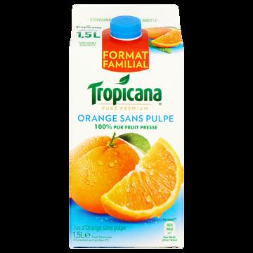 Tropicana Pur Jus Réfrigéré Orange Sans Pulpe Tropicana, Brique De 1.5l