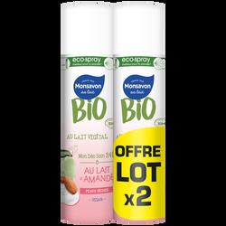 Deodorant lait d'amande bio MONSAVON spray 2x75ml
