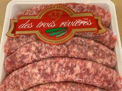 Saucisses LES TROIS RIVIERES, 6 pièces
