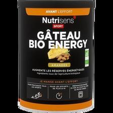 Gâteau bio energy amande NUTRISENS SPORT, 400g