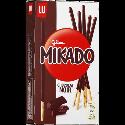 Biscuits chocolat noir MIKADO LU paquet 90g 90g