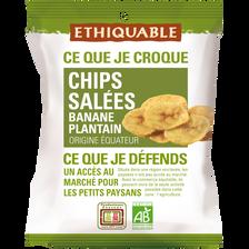 Chips salées banane plantain BIO ETHIQUABLE, 85g