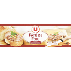 Pâté de foie U, 3 boîtes de 1/10, 234g