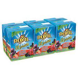 Briquettes de jus,ROYAL,baf fruits rouges  6X20CL