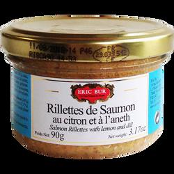 Rillettes de saumon citron aneth ERIC BUR, 90g
