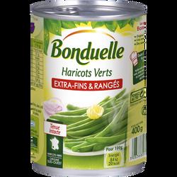 "Haricots verts extra-fins ""rangés"" BONDUELLE, boîte 220g"