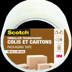 Emballage SCOTCH, colis et carton, 66mx48mm, transparent