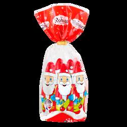 Moulages Père Noël en chocolat au lait sous alu ROHAN, x5, 150g