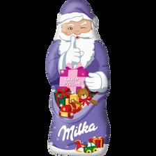 Père Noël pétillant chocolat au lait MILKA, 100g