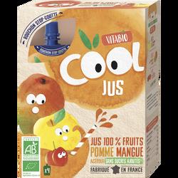 Cool Jus Pomme de France Mangue Acérola VITABIO, 4x105ml