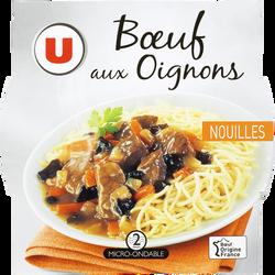 Boeuf aux oignons et nouilles U, barquette micro-ondable de 300g