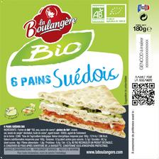 Pain suédois bio LA BOULANGERE, 180g