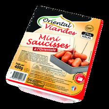 Mini saucisses à l'orientale Halal ORIENTALE VIANDE, 400g