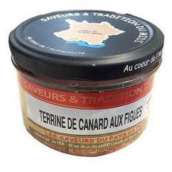 Terrine de Canard aux Figues, Bocal de 190g, SAVEURS & TRADITION DU MIDI