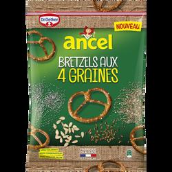 Maxi bretzels d'Alsace aux 4 graines ANCEL, 125g