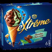 Nestlé Cônes Crème Glacée Menthe Et Chocolat Extreme, X6 Soit 426g