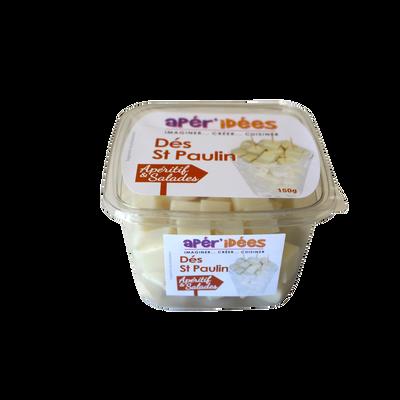 Dés Saint Paulin lait pasteurisé 28%mg CENTURION, barquette 150g