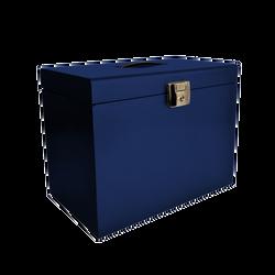 Classeur ménager avec 5 dossiers suspendus 21x29,7cm, 22x36,8x28,7cm,bleu nuit nacré