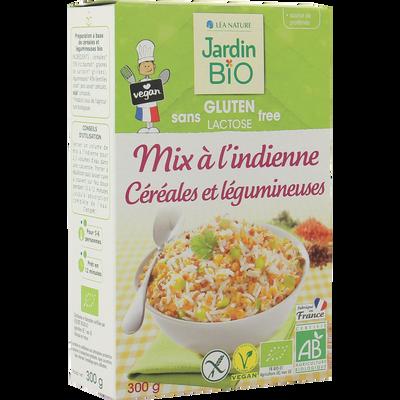 Quinoa méli mélo à l'indienne céréales et légumineuse sans gluten JARDIN BIO, 300g