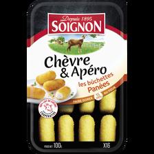 Soignon Les Bûchettes De Chèvre Panées , 24% De Mg, 16 Tranches, 100g