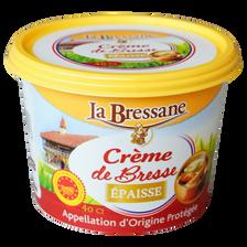 Crème AOC de Bresse épaisse LA BRESSANE, 33% de MG, 40cl