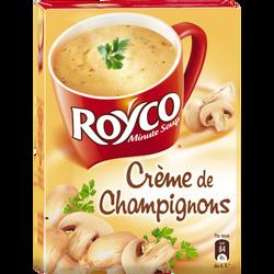 Crème de champignons ROYCO, 4 sachets dans 1 boîte de 64g