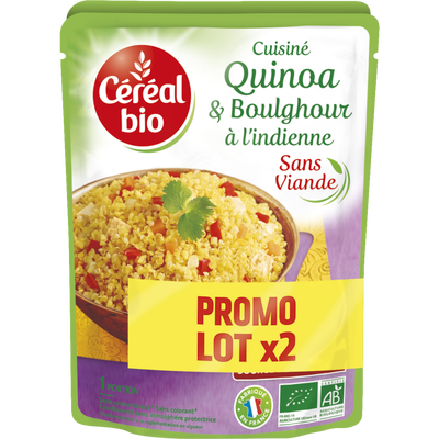 Quinoa boulghour indienne CEREAL BIO doy pack 2x220g 440g