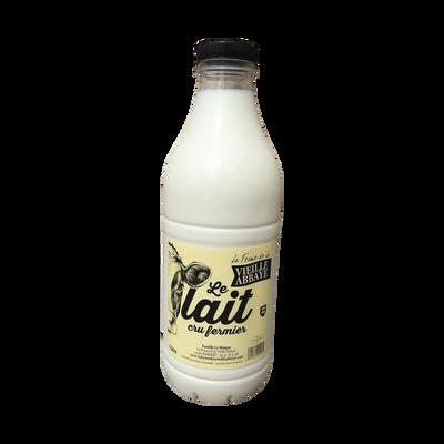 Lait cru fermier LA FERME DE LA VIEILLE ABBAYE, bouteille 1 litre