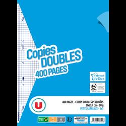 Copie double perforée U, 5x5, 21x29,7cm, 400 pages