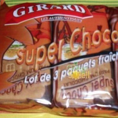 Biscuits fourrées Super Choco GIRARD, 3 paquets fraîcheur de 2 biscuits, 240g