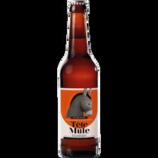 Bière ambrée tête de mûle, 7°, 33cl