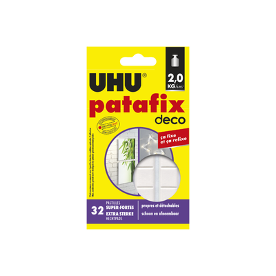 Pastille de fixation Patafix Homedeco UHU, 32 unités