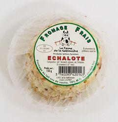 Fromage frais au lait cru de vaches, échalotes, FERME DE LA SABLONNIERE, 18%mg, 150g