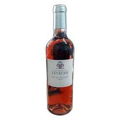 Vin Rosé DOMAINE DE L'ÉVÊCHÉ, Côtes du Roussillon rosé, bouteille de 75Cl