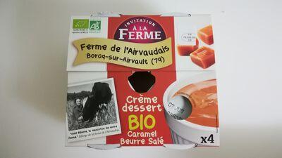 Crème dessert caramel au beurre salé - 4x100g - La Ferme de l'Airvaudais