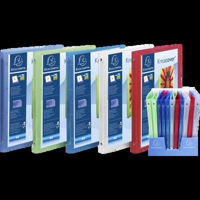 Classeur-cahier personnalisable 4 anneaux EXACOMPTA, dos 20mm, 21x29,7cm, coloris assortis