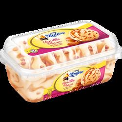 Crème glacée saveur vanille pécan sauce caramel au beurre salé LA LAITIÈRE, pot de 510g