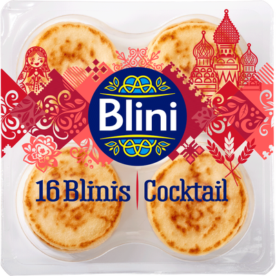 Blinis cocktail BLINI, 16 unités, 135g